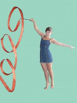 Отдается в дар «Лента для художественной гимнастики»
