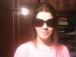 Отдается в дар «Сиреневые солнечные очки»