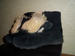 Отдается в дар «зимние ботинки 38 чёрн.замша»