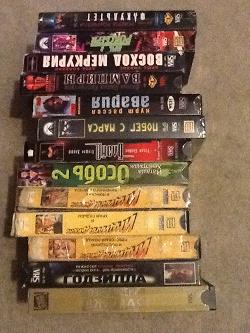 Отдается в дар «VHS кассеты»