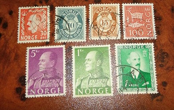 Отдается в дар «В коллекцию — марки Норвегия»
