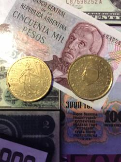 Отдается в дар «Горстка Евромелочи + 1 цент США. Нумизматам.»