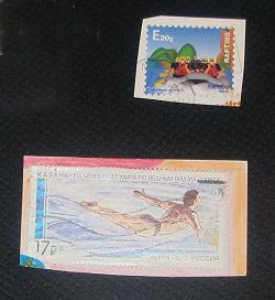 Отдается в дар «Марки с конвертов — спорт»