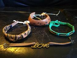 Отдается в дар «Кожаные браслеты фенички»
