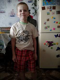 Отдается в дар «футболка+шорты на мальчика»