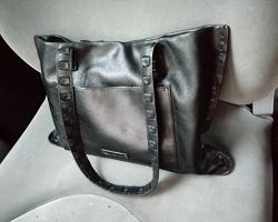 Отдается в дар «сумка кожаная чёрная»