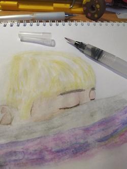 Отдается в дар «Новая водяная кисть для рисования акварелью»