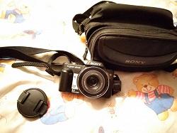 Отдается в дар «Компактный фотоаппарат Sony dsc h10»