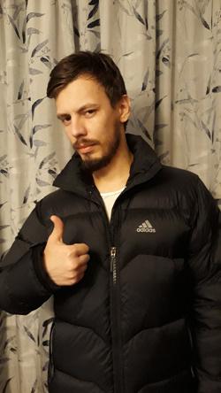 Отдается в дар «Пуховик Adidas, 46 размер»