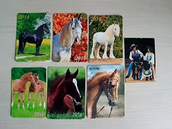 Отдается в дар «Пачечка календариков с лошадьми»