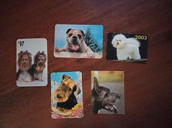 Отдается в дар «Календарики с собаками»
