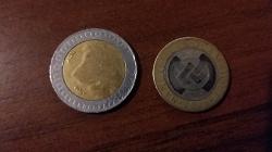 Отдается в дар «Биметаллические монеты»
