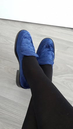 Отдается в дар «Лоферы синие, р-р 36»