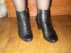 Отдается в дар «Ботильоны черные кожаные»