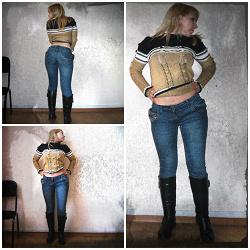 Отдается в дар «джинсы женские синие р 28 на рост 160»