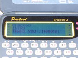 Отдается в дар «Англо-русский электронный переводчик Partner ER200DM»