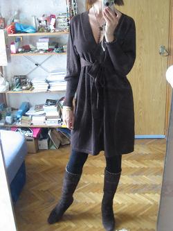 Отдается в дар «Золотисто-коричневое платье 44-46»