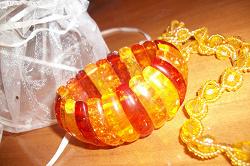 Отдается в дар «позитивный солнечный браслет под янтарь»