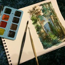 Отдается в дар «Цветные карандаши+акварель (из 90х)»