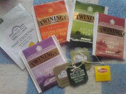 Отдается в дар «пакетики от чая Английского и ярлычки»