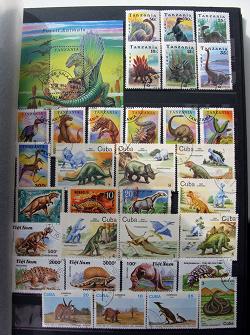 Отдается в дар «Марки палеонтология»