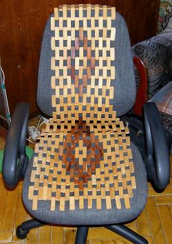 Отдается в дар «Деревянная накидка для автомобильного сиденья»