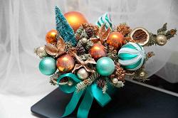 Отдается в дар «Новогодний набор игрушек синий»