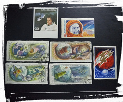 Отдается в дар «Немного космических марок»