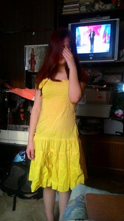 Отдается в дар «Шикарное желтое летнее платье 42-44 р-р»