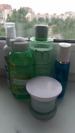 Отдается в дар «лосьон для снятия макияжа с глаз Garnier Skin Naturals»