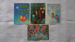 Отдается в дар «Открытки советские «Новый год» и «1 Мая»»