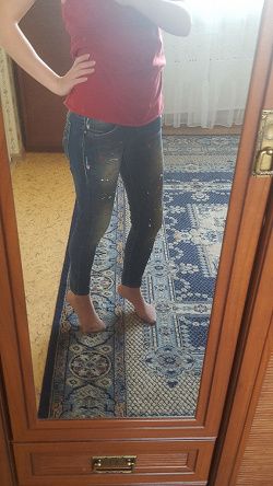 Отдается в дар «джинсы размер 25»