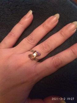 Отдается в дар «Кольцо серебряное с золотой пластиной.»