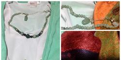 Отдается в дар «Ожерелье со светло-зеленым камнем»