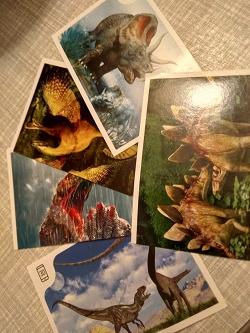 Отдается в дар «Наклейки Диски динозавры»