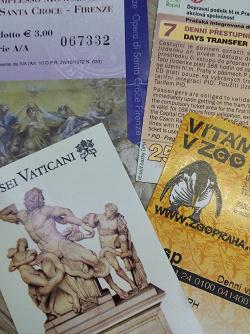 Отдается в дар «Билеты Ватикан, Прага»