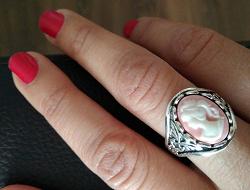 Отдается в дар «Кольцо «Камея», размер 18.»