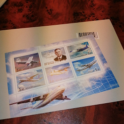 Отдается в дар «Марки России. Малые листы. Авиаконструкторы»