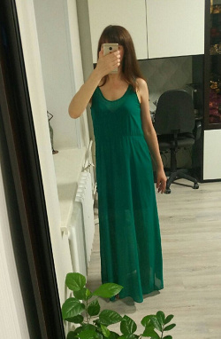 Отдается в дар «Платье в пол Zara»