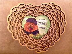 Отдается в дар «Деревянная корзиночка с собачкой под конфеты, хлеб, мелочь»