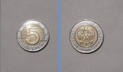 Отдается в дар «Монета 5 злотых»