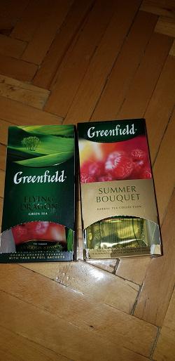Отдается в дар «Чай Гринфилд в пакетиках»
