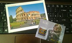 Отдается в дар «Открытка с Римским Колизеем»