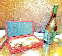 Отдается в дар «Подарочный винный набор»