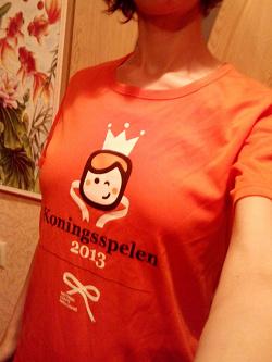 Отдается в дар «Яркая оранжевая футболка»