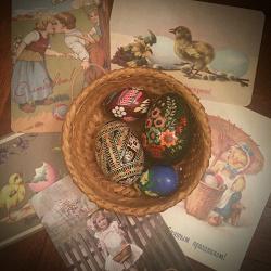 Отдается в дар «Декор для пасхального стола яйца в корзиночке»