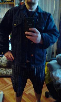 Отдается в дар «Мужская джинсовая куртка»