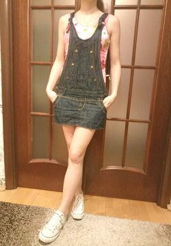 Отдается в дар «Комбинезон-юбка джинсовый»