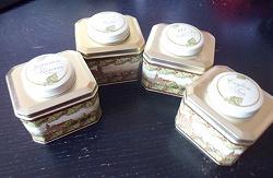 Отдается в дар «4 красивые баночки из-под чая»