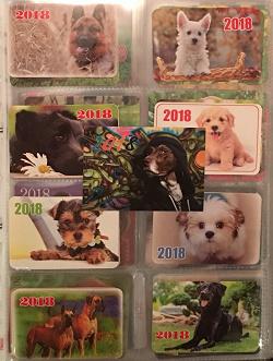 Отдается в дар «Календарики карманные 2018»